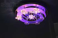 Светодиодная люстра Ø 50 см. месяц/звезды с пультом дистанционного управления