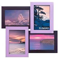 Дизайнерская фоторамка -4 Фиолетовая 4 фото