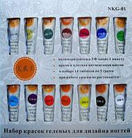 Набор гелевых красок для дизайна YRE NKG-01