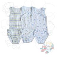 Комплект детского белья для мальчиков ТМ Фламинго (майка+трусики) артикул 201- 1009