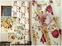 Ткань в стиле прованс с цветами