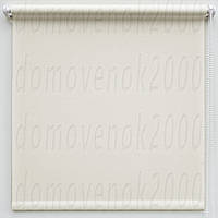 57,5 см х 170 см. Ткань Лен, белая. Рулонные шторы, Тканевые роллет