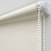 70 см х 170 см. Ткань Лен, белая. Рулонные шторы, Тканевые роллет
