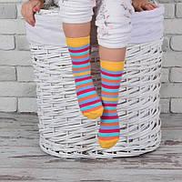 Детские демисезонные носки в яркую полоску Дюна (желтый)