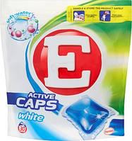 E White капсулки для стирки белых вещей 30 шт
