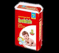 Bebish junior Детские подгузники 40 шт, Размер 5 (11-25 кг)