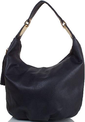 Удобная женская сумка из искусственной кожи ANNA&LI (АННА И ЛИ) TU14592-black (черный)