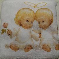 Крыжма (полотенце для крещения) белая с ангелочками