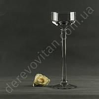 Ваза-бокал для цветочных композиций/подсвечник, 30 см