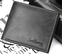 Стильный кожаный мужской кошелек портмоне Baellerry темно-серый