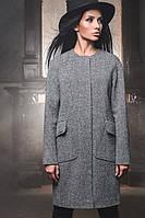 Модное твидовое пальто SV 8647
