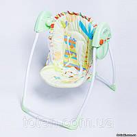 Детская кресло - качалка шезлонг колыбель электрическое BT-SC-002. Мобиль. 4 скорости качания. 12 мелодий.