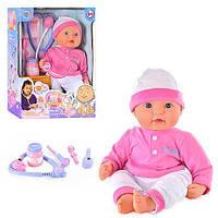 """Пупс кукла 5238 Мой малыш """"Мила"""" 40 см, мягкотелый, набор доктора, звук, на бат-ке"""