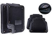 Универсальные коврики со съемным ворсовым элементом / комплект 5шт. / цвет: черный