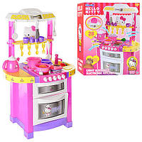 Детская кухня Hello Kitty 1680644 HK. Плита, посуда, продукты, звук, свет