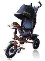 Велосипед детский трехколесный ЧЕРНЫЙ Azimut AIR Lamborghini L2 VIP с фарой и музыкой