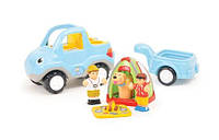 Игровой набор Wow toys 10328 Путешествие автомобиля Райана с прицепом, инер-я, фигурки 2шт, собака, палатка