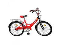 Велосипед PROFI детский 20 дюймов P 2046 Красно-черный, звонок, подножка