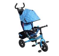 Велосипед трехколесный детский Lexus Super Trike VT1406 голубой надувные колеса