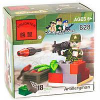 """Конструктор """"Гранатометчик со Стингером (базукой)"""" 18 деталей Brick - 828"""