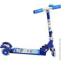 Детский трехколесный самокат Profi Trike BB 3-001. Тачки синие