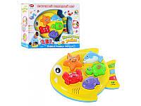 Детская музыкальная обучающая игрушка 7385  2 в 1, Подводный мир