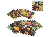 Детский игровой коврик- мозаика M 1319  Маша и Медведь, EVA