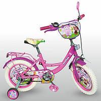 Детский двухколесный велосипед 12 дюймов Лунтик LT 0050-02 W фиолетовый