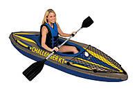 Лодка-байдарка 68305 надувная Challenger К1 Kayak Intex