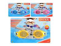 Очки для плавания Intex 55601 3 цвета, 3-8 лет, регулируемый ремешок