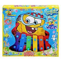 Детская музыкальная игрушка Ксилофон 89-44 Spongebob