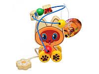 Деревянная игрушка Каталка лабиринт на проволоке Котенок Гав GT5935