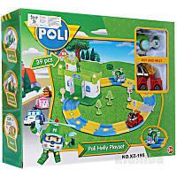 Гараж с машинкой, вертолетом и треком Robocar Poli XZ-195