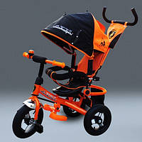 Велосипед детский трехколесный Lamborghini 610 (металлическая рама) НАДУВНЫЕ КОЛЕСА. Оранжевый