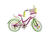 """Двухколесный велосипед 20д. PF2066G """"Fairy"""" с сиденьем для кукол"""