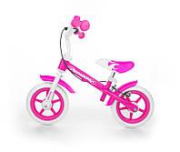 "Беговел (велобег) ""Milly Mally Dragon"", 10"" с тормозом, розовый"