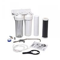 Двухступенчатая система фильтрации под кухон. мойку aquafilter FP2-W-K1