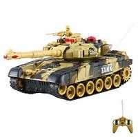 Детский боевой танк Светло-зеленый 9993 на радиоуправлении 40 МГц. Можно собрать танковый бой!