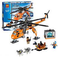 Конструктор-аналог Лего Арктический вертолет URBAN Bela 10439, 273 детали, 6+