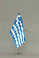 Флажок Греции 13,5*25 см., плотный атлас