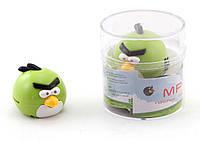 Плеер MP3 Angry Birds зеленая птичка. зарядка - mini USB. слот под microSD