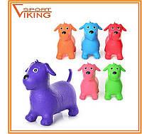 Игрушка-прыгун резиновая собака (разные цвета)
