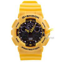 Спортивные часы Casio G-Shock ga-100 Уellow (Касио)