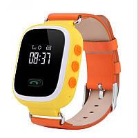 Детские умные часы Smart Baby Watch Q60 с GPS-трекером отслеживания Оранжевые