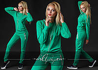 Спортивный костюм зеленый женский