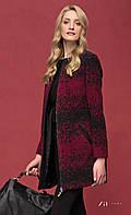 Женское теплое короткое пальто цвета бордо на молнии. Модель Heidi Zaps. Коллекция осень-зима 2016-2017.