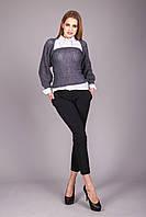 Многофункциональный вязаный свитер-шарф