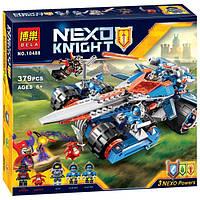 Набор Нексо Найтс 10488 Устрашающий разрушитель Клея, 5 фигурок, 379 деталей, 2 пушки, меч-самолет