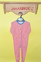 """Человечки для мальчика """"Красная полоска"""" (68 размер)"""
