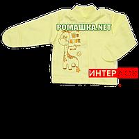Детская кофточка р. 56 с царапками демисезонная ткань ИНТЕРЛОК 100% хлопок ТМ Алекс 3173 Желтый